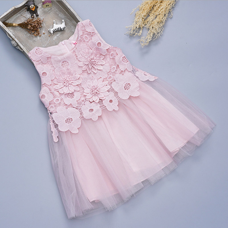Sleeveless Girl Dresses Princess Children Baby Girl Clothing Lace Party Fancy Birthday Clothes for girls 3 4 6 8 10 11 years old summer style girls clothing for 6 14 years old girl baby girls pony dress sleeveless girl children clothing