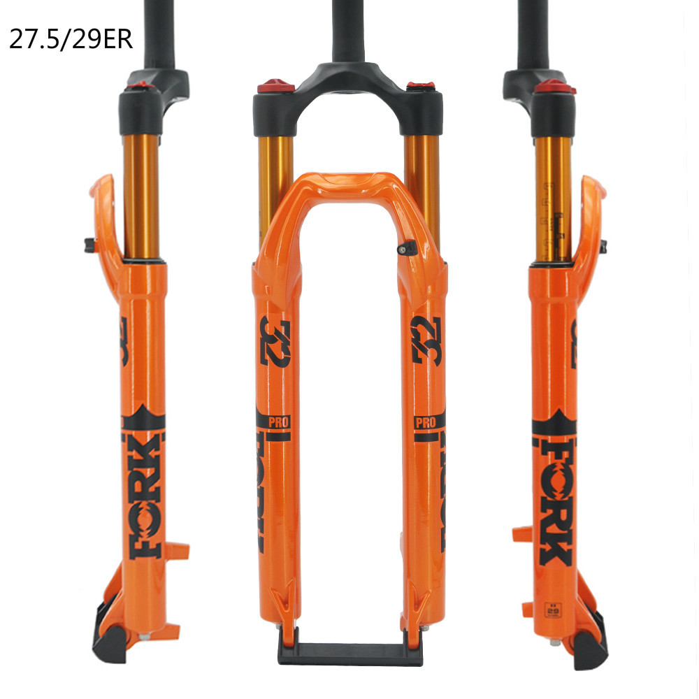2019 New <font><b>Bicycle</b></font> Air <font><b>Fork</b></font> <font><b>27.5</b></font> /29er MTB Mountain Bike Suspension <font><b>Fork</b></font> Air Resilience Bike <font><b>Fork</b></font> 120mm Traver axle 9*100mm image