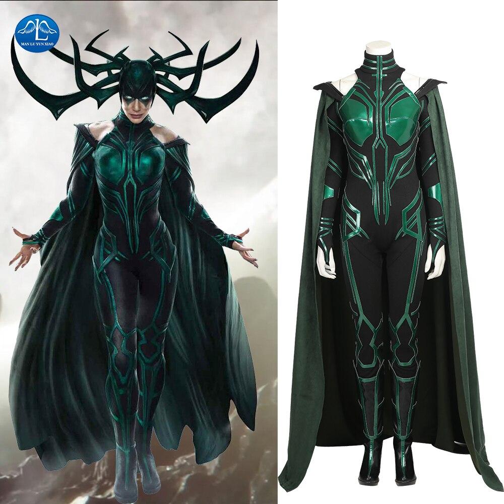 manluyunxiao hela cosplay costume women costume thor ragnarok