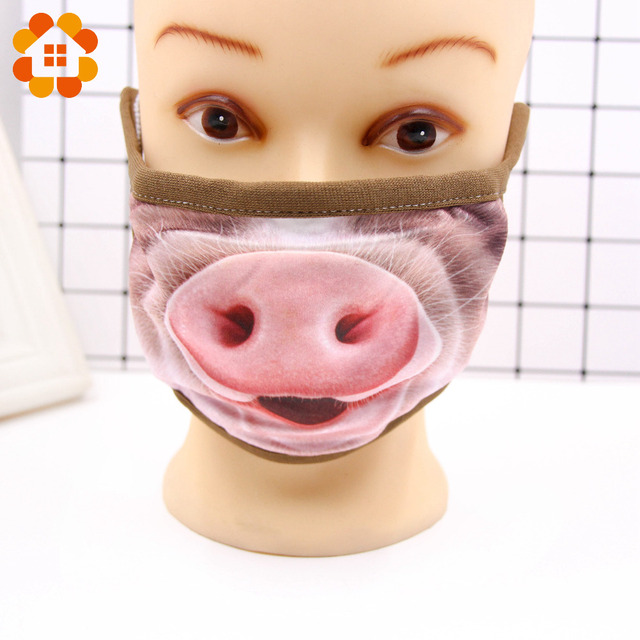 Villain Joke Masks Funny Expression Pig Lower Half Face Cotton Face Mask Festive Christmas Masquerade Party Cosplay Supplies 2