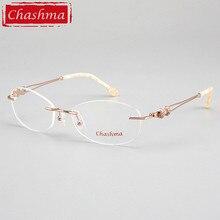 Chashma Brand Designer Rimless Frames Female Quality Fashion Frameless Eyeglasses Spectalces Optical Eyewear Women Clear Lenses