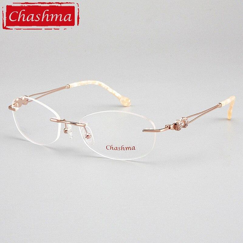 Женские оправы без оправы Chashma, брендовые дизайнерские оправы без оправы, Модные оптические очки без оправы, прозрачные линзы