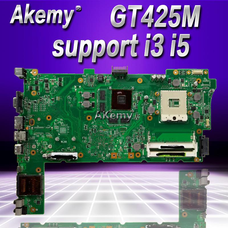 Akemy Original Laptop Motherboard for ASUS N73JN N73JG N73JQ N73JF REV:2.1 60-NZYMB1100-C14 Mainboard 2 <font><b>RAM</b></font> slots 100% tested image