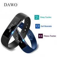 DAWO Fitness Bracelet Smart Band Activity Tracker OLED Screen Pedometer Sleep Monitor Android IOS Smartband PK