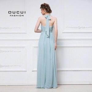 Image 2 - アクア上品なシフォンのイブニングドレスのウェディングパーティードレスエレガントな 2019 恋人花嫁介添人ドレスプリーツプラスサイズ vestido OL103056