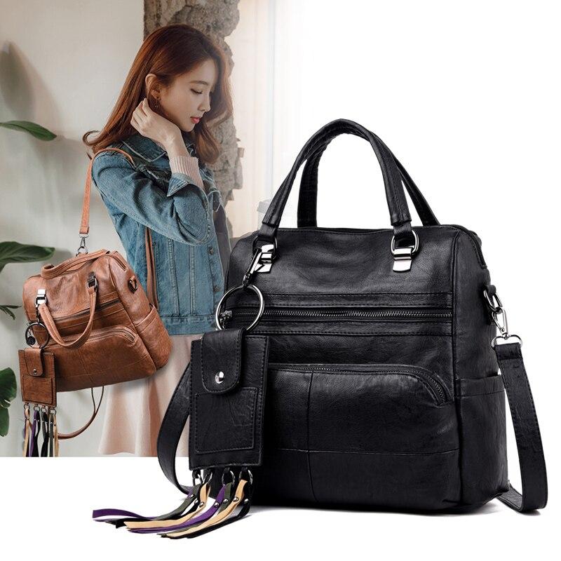 YILIAN2019 new handbag soft leather multi-functional fashion large capacity female bag sk6889