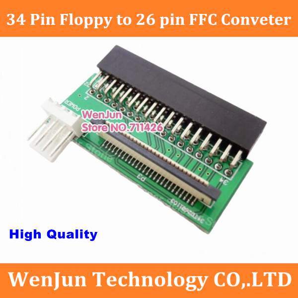 New 34 Pin Floppy Interface To 26 Pin FFC FPC To PCB Converter Board Adapter --1pcs/lot