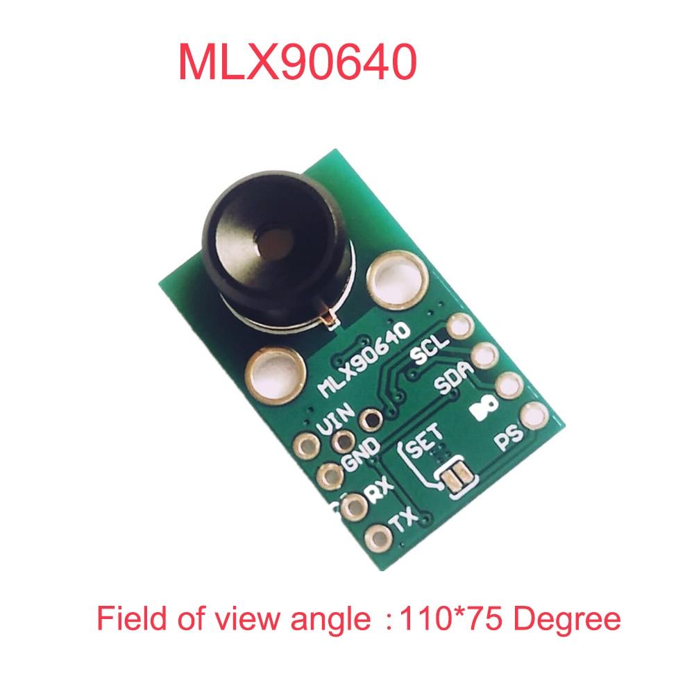 MLX90640 IR 32*24 A Raggi Infrarossi Sensore di Misurazione della Temperatura A Matrice di punti Breakout Modulo Imager Termico MLX90640BAA 110*75 GradiMLX90640 IR 32*24 A Raggi Infrarossi Sensore di Misurazione della Temperatura A Matrice di punti Breakout Modulo Imager Termico MLX90640BAA 110*75 Gradi
