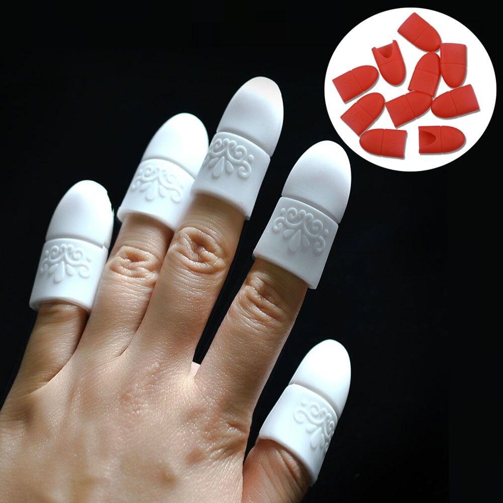 10 stücke Nagel Tränken Weg Finger Cap Clip UV Gel ...