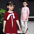 Camiseta de la muchacha para los adolescentes niña 5 6 7 8 9 10 11 12 13 Años Los Niños de Gran Tamaño de La Camiseta Del Otoño de Manga Larga Niña de La Escuela Tees