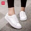 Mulheres Genuínas sapatos de Couro Casual Lace Up Sneaker Cortez Não Solas Antiderrapantes Sapatos Da Moda Clássico Marca de Calçados