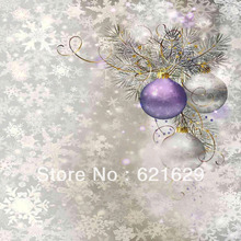 Christmas Balls 8'x8′ CP Computer-painted Scenic Photography Background Photo Studio Backdrop ZJZ-802