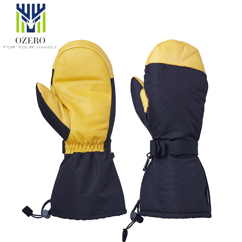 OZERO Winter Ski Skiing Gloves Snowboard Snowmobile Motorcycle Riding 3M Sports Windproof Waterproof Warm Gloves For Men