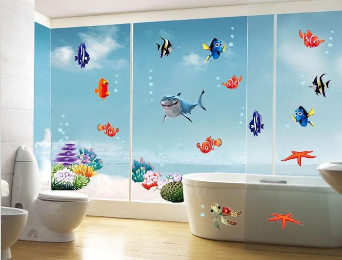 Nemo pesce autoadesivo della parete del fumetto per la doccia