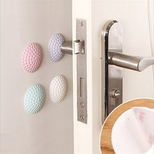 Wall Thickening Mute Door Stick Golf Styling Rubber Fender Handle Door Lock Protective Pad Protection Home Wall Stickers(China)