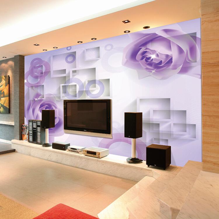 papel pintado de flores rosas mural para sala de estar tv fondo decoracin de la pared