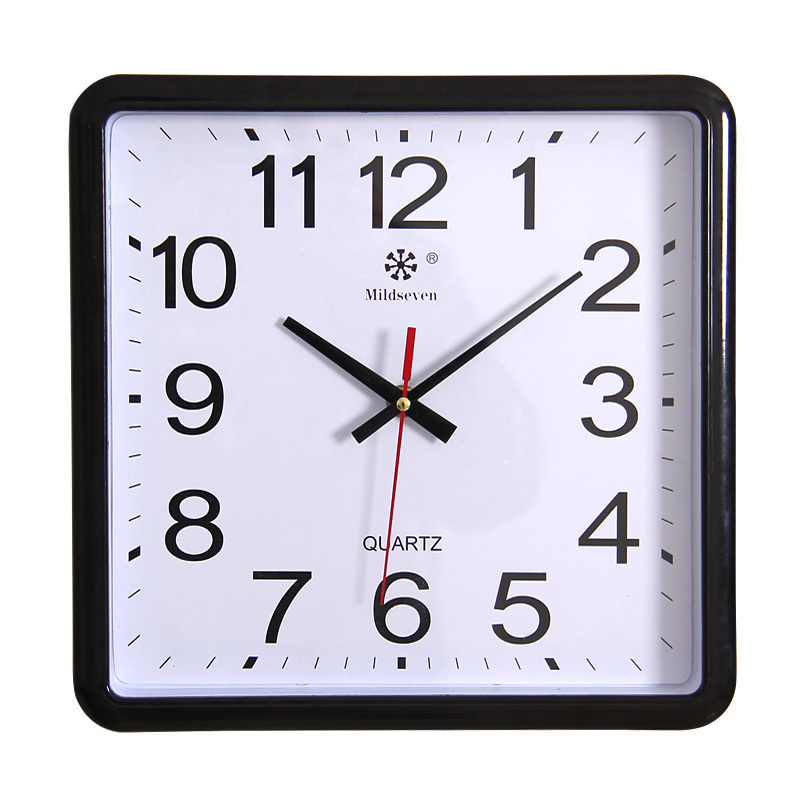 Square wall clock brief silent watch clock e quartz wall pocket watch