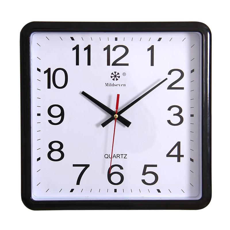 Square Wall Clock Brief Silent Watch Clock E Quartz Wall