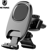 Metrans Universal Magnetic Car Phone Holder For iPhone 7 XS XR 360 Degrees Rotation Adsorption Air Vent Mount Holder For Phone