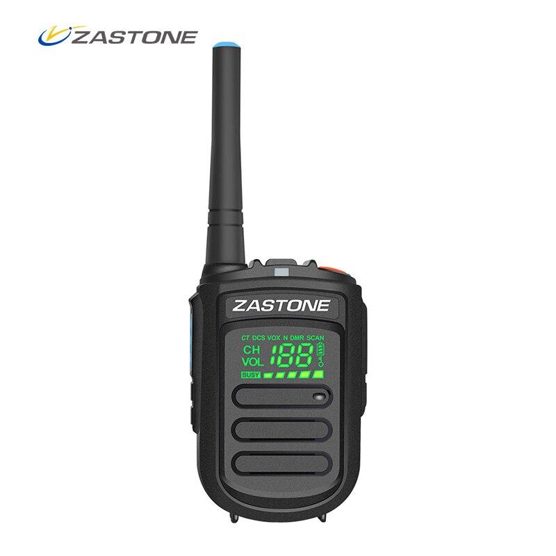Zastone Mini9 + DMR Mini Portable Numérique Talkie Walkie 2 w UHF 400-470 mhz HF Émetteur-Récepteur Communicateur De Poche deux-Way Radio