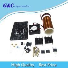 цена 20W Mini Music Tesla Coil Plasma Speaker Transmission DIY Kits DC 15-24V онлайн в 2017 году