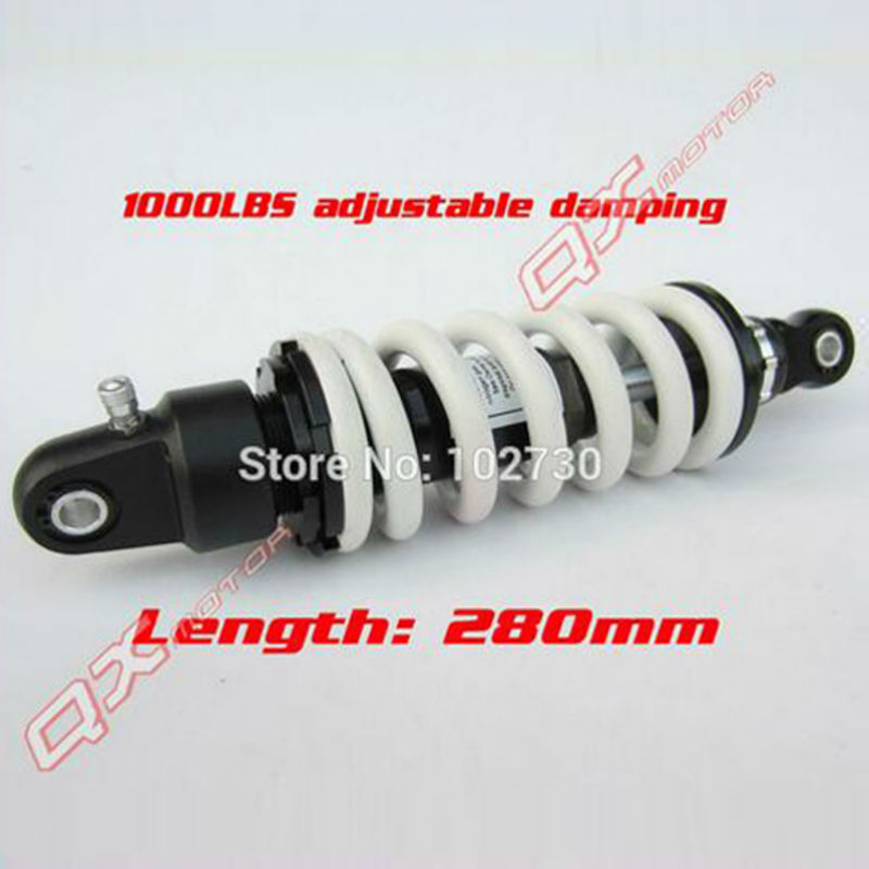 1000LBS adjustable damping 280mm rear shocks absorber/suspension for 110/125/140/150/160cc KLX110 CRF50/70 Dirt Pit Bikes