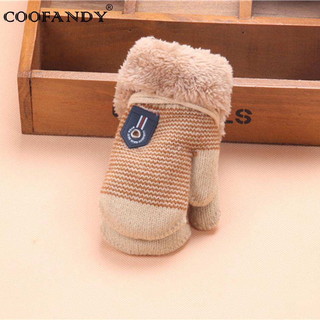 Haling Halter Gloves Faux Fur Patchwork Kids Hands Gloves Winter Accessories ...