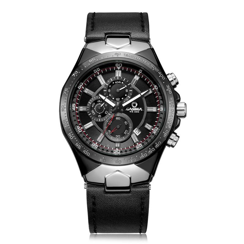 Prix pour Mode de luxe marque montres hommes sports table lumineux multifonction racing mens quartz montre-bracelet étanche 100 m casima #8880