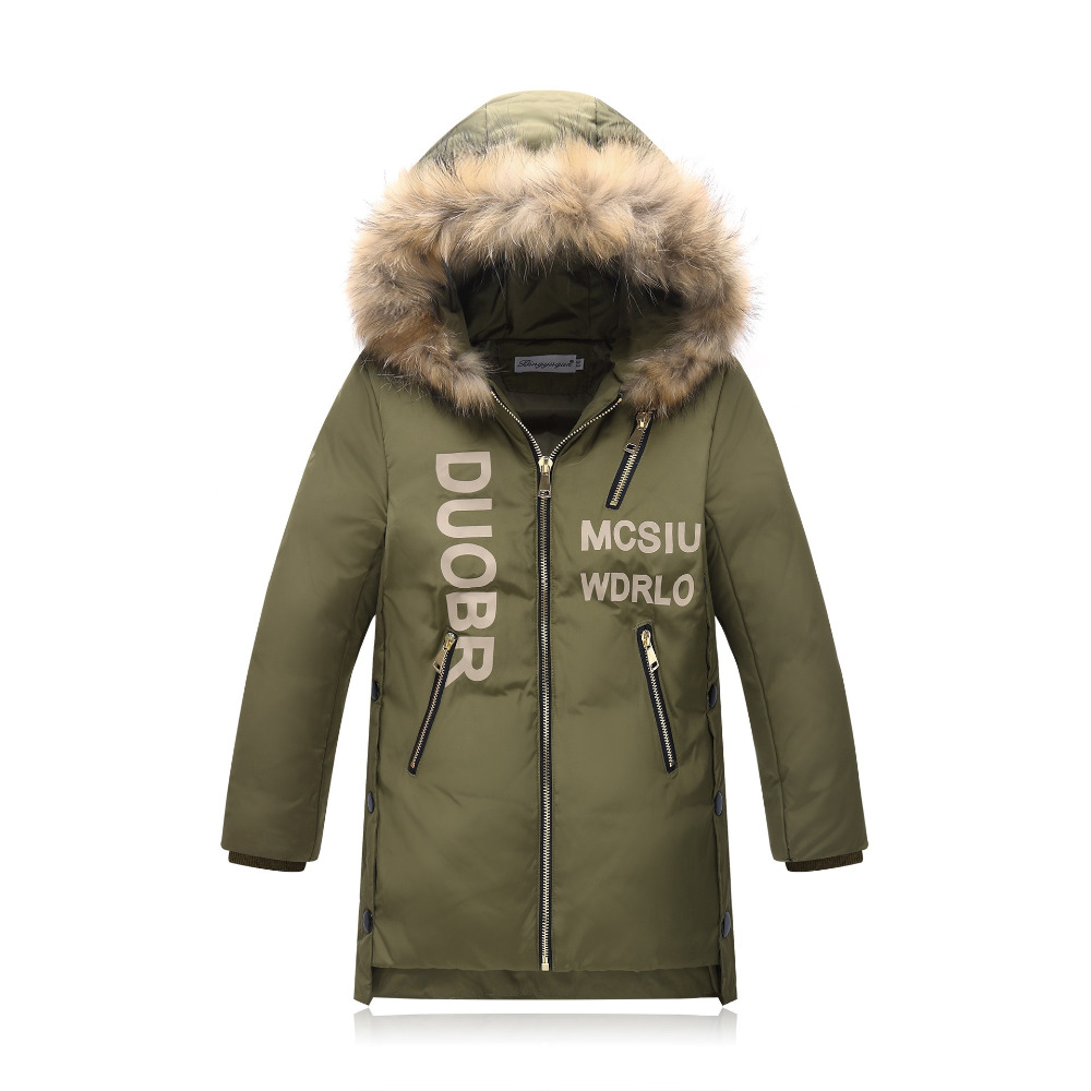 c7e63550c 2017 design long thick jackets fur hooded duck down fluff kids ...