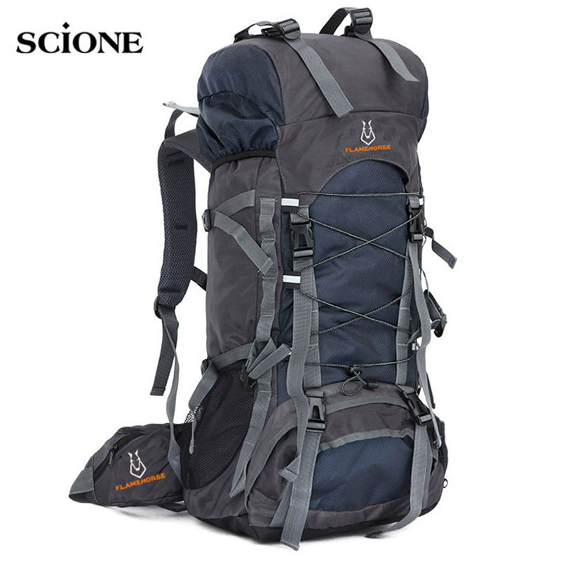 60L Travel Bag Camping Backpack Men Large Backpacks Hiking Outdoor Sport Bags Rucksack For Hiking Backpacks Mochlia Pack XA556WA