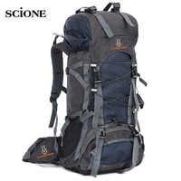 60L Reisetasche Camping Rucksack Männer Große Rucksäcke Wandern Outdoor Sport Taschen Rucksack für Wandern Rucksäcke Mochlia Pack XA556WA