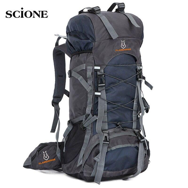 60L sac de voyage Camping sac à dos hommes grands sacs à dos randonnée en plein air Sport sacs sac à dos pour randonnée sacs à dos Mochlia Pack XA556WA