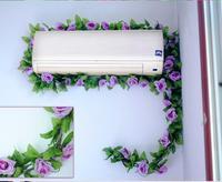 Искусственные цветы тростника потолка крытый моделирование Тростника лозы пластиковый цветок розы гостиная кондиционер трубы