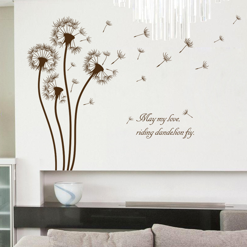 Us 2 59 48 Off Dandelion Stickers Wall Sticker Wall Art Home Decoration Accessories Bedroom Decor Wall Stickers Home Decor Living Room In Wall