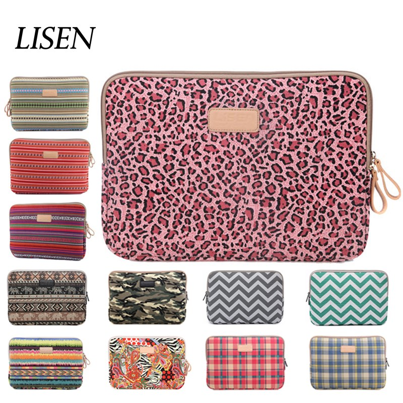 Leopard Laptop Sleeve Canvas For Macbook 11 12 13 15 Retina Pro 13.3 Notebook Bag 14 15.6 Case For ipad Mini Air 1 2 3 4 7.9 9.7 цена