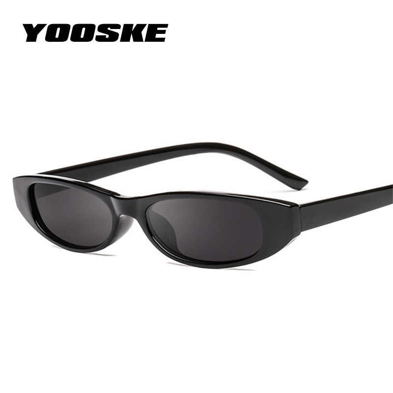 9f7ff671e421 ... YOOSKE Vintage Rectangle Sunglasses Women Cat Eye Designer Ladies Small  Frame Black Red Sun Glasses Brand ...
