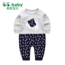 f5fdb4d26a3fb Éléphant nouveau-né bébé pyjamas fille barboteuses infantile vêtements  combinaison à manches longues bébé garçons