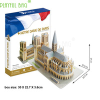 3D Mosaic of World Famous Architecture Five Star Difficulty in Hardcover Version of Notre Dame in Paris HJ02|Craft Toys|Toys & Hobbies -