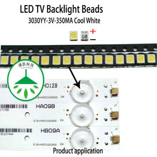 yongyuekeji 100pcs/lot new led smd 3030yy 3v 350ma 1w lamp beads cool white for repair tv lcd backlight bar hot