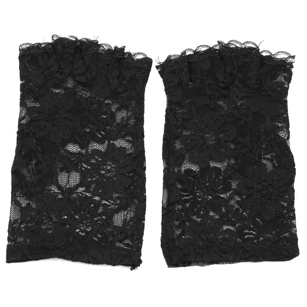 1ab1de82c ... Charm Sexy Lady Girl Lace Party Costume Gloves Finger Fingerless Glove  Black New Design 160* ...