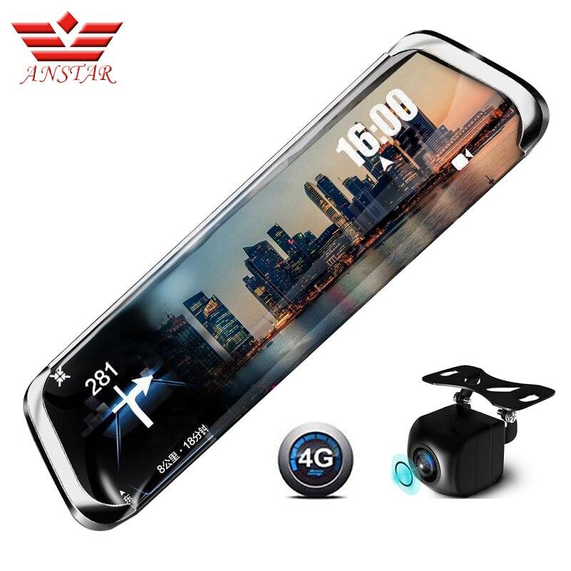 ANSTAR 3G/4G dvr de voiture 10 IPS Flux Vue Arrière Miroir FHD 1920x1080 P caméra de tableau de bord dashcam ADAS enregistreur vidéo Donner 32G TF