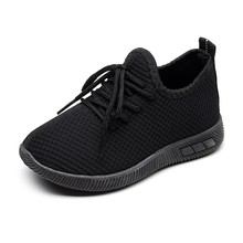 Children Mesh Shoes Sneakers Infant Kids Baby Breathable Lace-Up Flat
