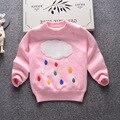 Детские девушки свитер 2016 зима толстый свитер двойной 2-6Y мальчиков и девочек теплый свитер мультфильм дизайн детской одежды