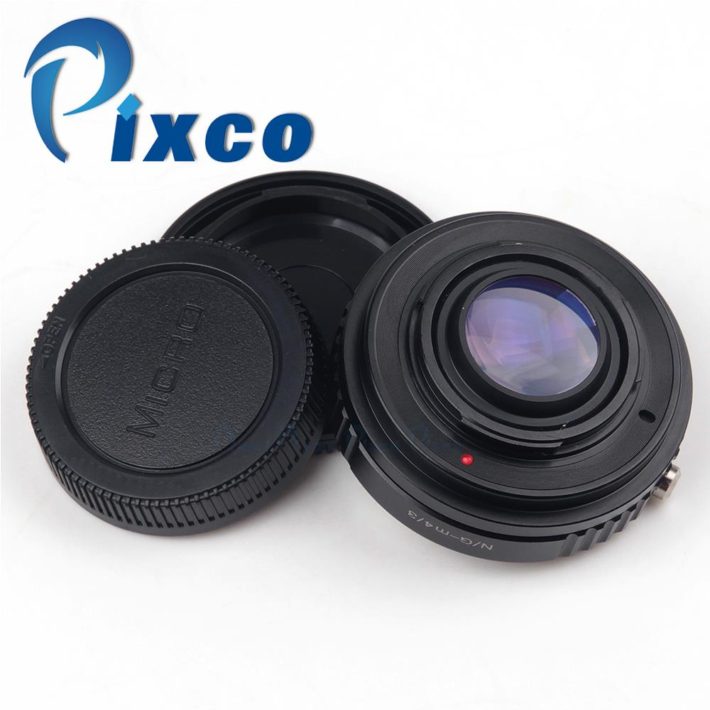 Save $2!Pixco Focal Reducer Speed Booster Lens Adapter Ring suit for Nikon.G mount Lens to Micro 4/3 M4/3