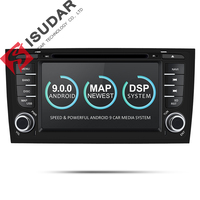 Isudar Car Multimedia Player GPS Two Din Android 9 DVD Automotivo For Audi/A6/S6/RS6 Radio FM Quad Cores RAM 2GB ROM 16GB DSP