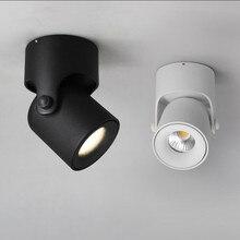 10 Вт 12 Вт светодиодный потолочный светильник Точечный светильник установленный на поверхности COB задний фонарь регулируемый 180 градусов Фойе Спальня Свет