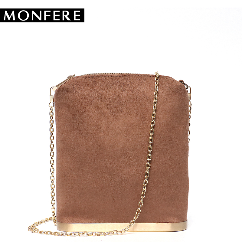 MON Women Messenger Bags Day Clutch Suede Vegan Leather Lady Hand Bag Chain Crossbody Shoulder Bags Small Metal Female Handbags small transparent acrylic clutch perfume bottle bags lady evening clutch bags chain clutches women crossbody bag