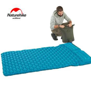 2018 NatureHike Inflatable Mattress For 2Person 185*115*5cm Big Size Portable Air Pad Moisture-proof Mat