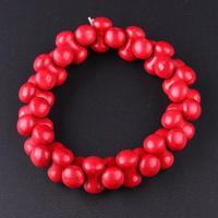 חמה למכירה תכשיטי עצם אדום אבן טבע אופנה נשים צמיד