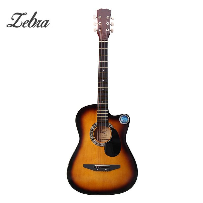 Zèbre 6 Couleur 38 Pouces En Bois Folk Acoustique Guitarra Basse guitare ukulélé avec Cas Sac pour instruments de musique Amant